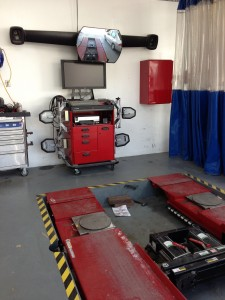 The Wheel Alignment Machine at Robert's Auto Repair